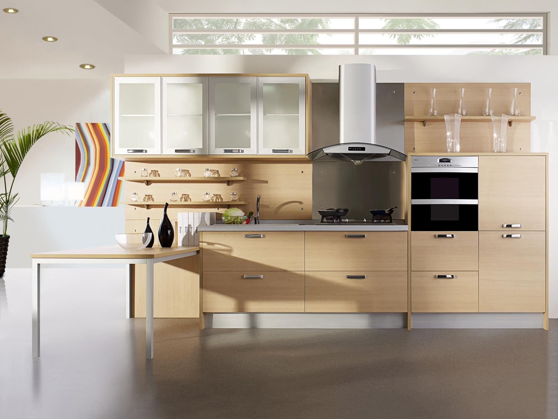 comfortable-wooden-cabinets-in-delightful-kitchen