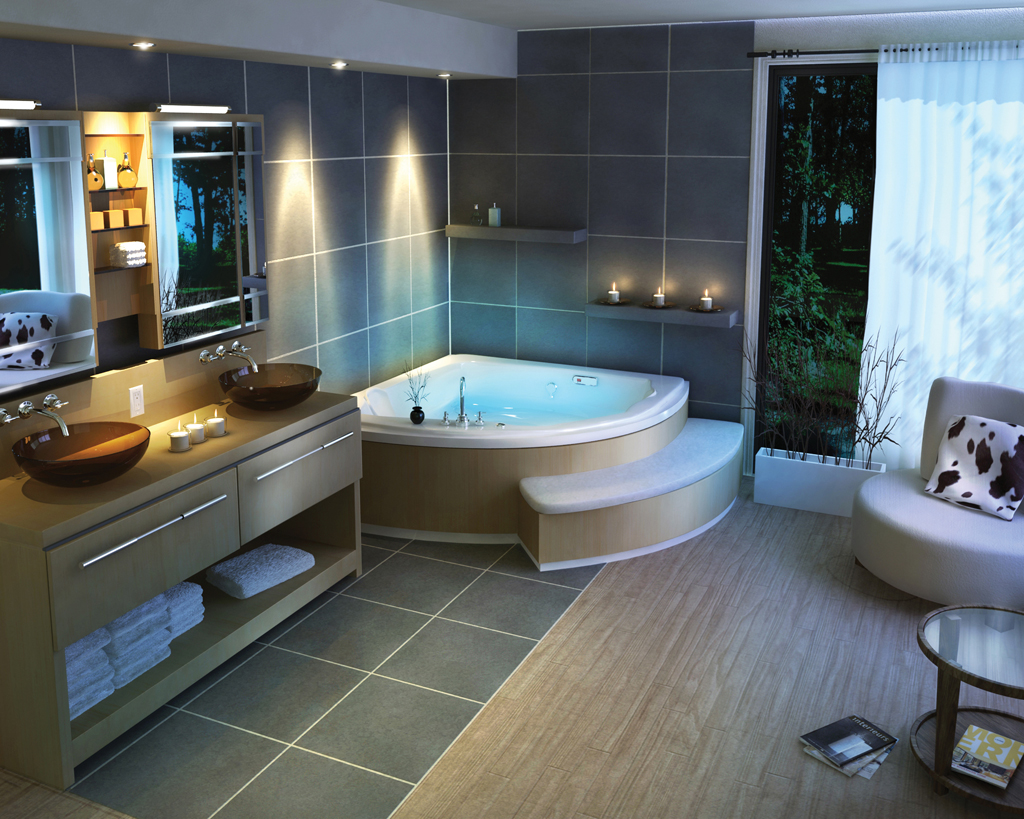 Easy and stylish ideas on renovating a large bathroom for Bathroom designs for big bathrooms