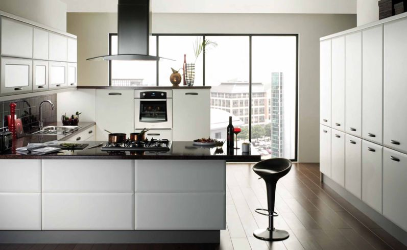 Contemporary Kitchen White Cabinets Fair Cabinet For Kitchen 2017