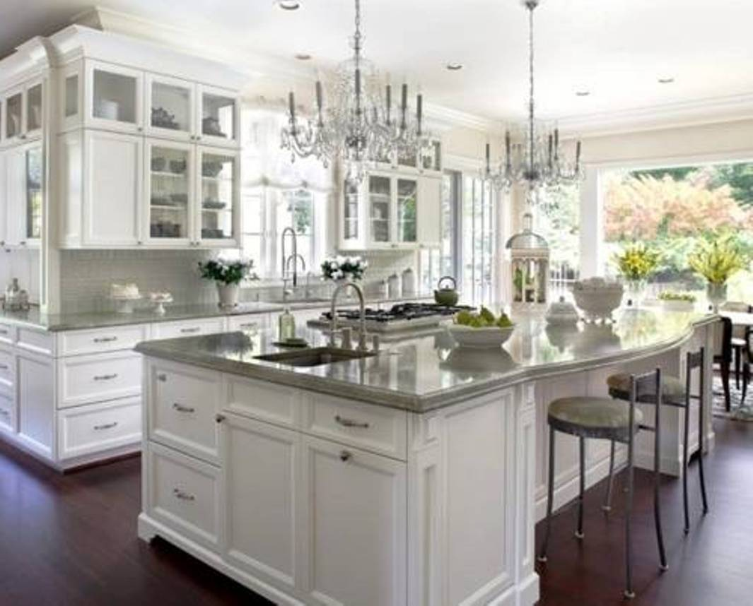 Painting your cabinets white for Country kitchen paint ideas
