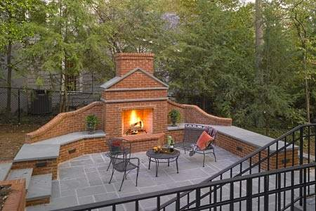 Brick Patio Designs For Fireplaces Brackets And Built