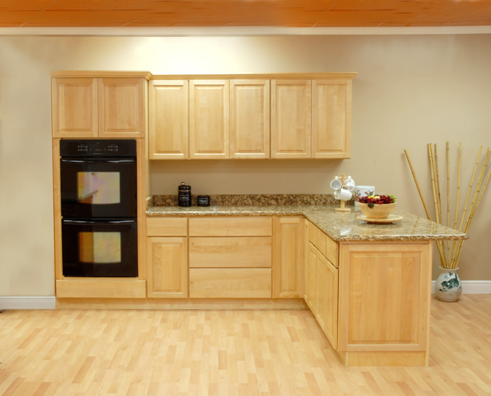Wood cabinets that won 39 t break the bank for Custom wood kitchen cabinets