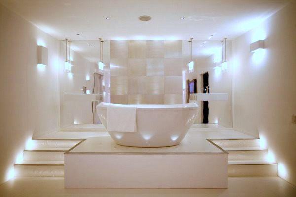 Bathroom lighting helps set the mood mozeypictures Gallery